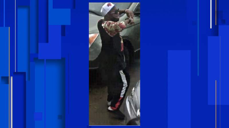 Detroit police are searching for a man in connection with destruction of property in on Gratiot Avenue.