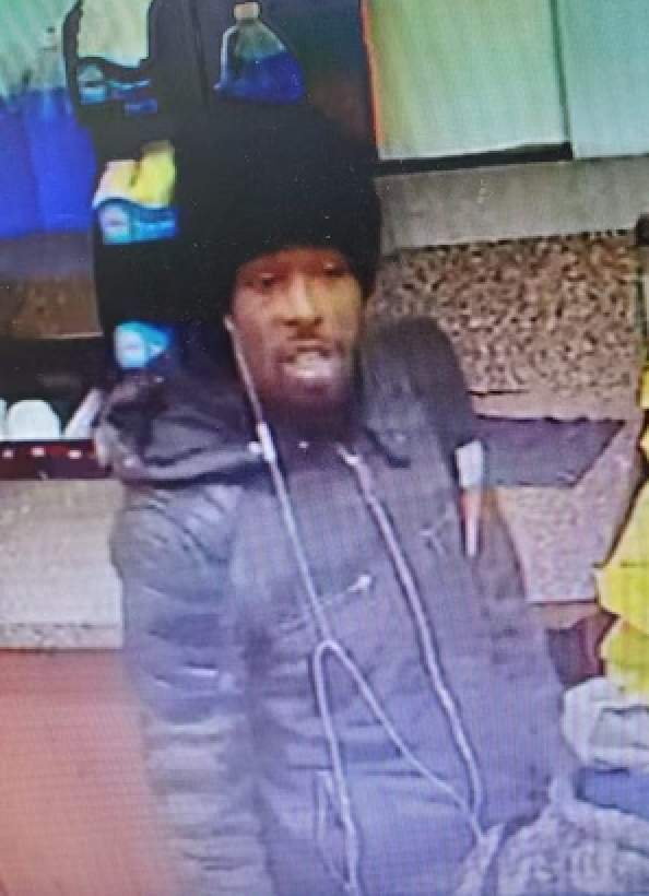 The person of interest wanted in connection with a Detroit gas station homicide.