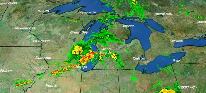 Live weather radar at 8 p.m. on June 26, 2020.