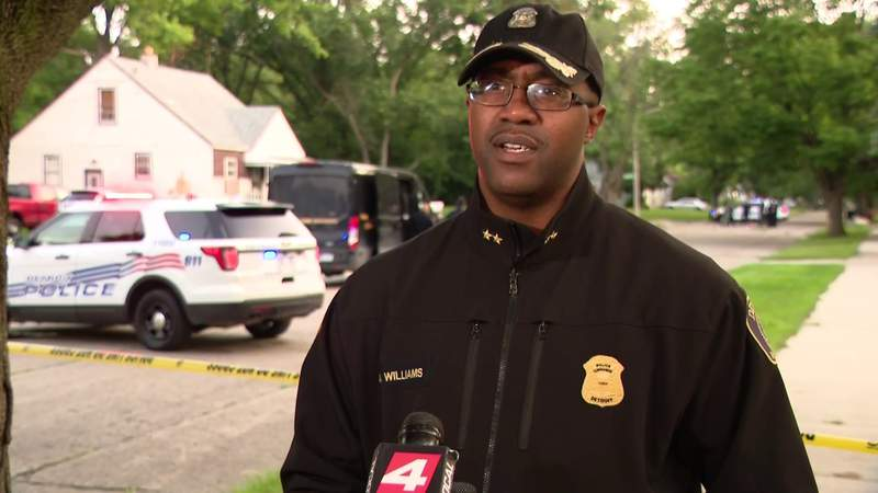 Detroit police Commander Arnold Williams provides update on Stout Street fatal shooting