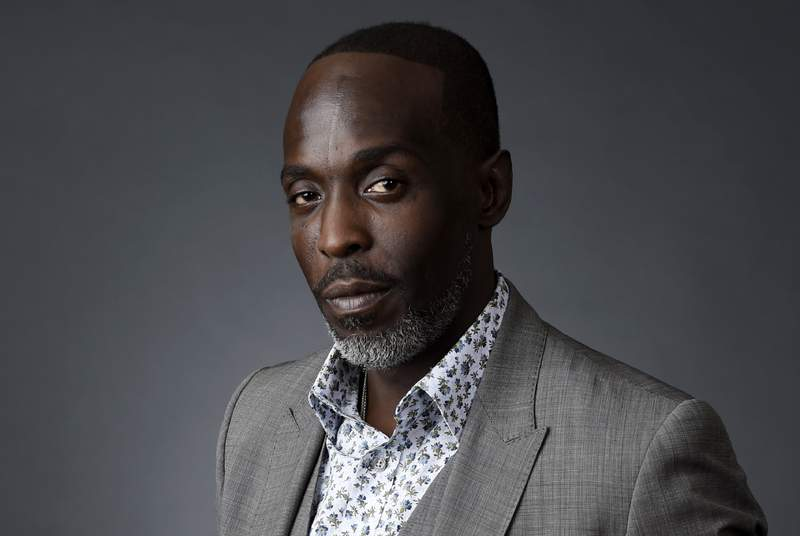 FILE - Actor Michael K. Williams poses for a portrait at the Beverly Hilton during the 2016 Television Critics Association Summer Press Tour, Saturday, July 30, 2016, in Beverly Hills, Calif. Williams, 54, died of acute drug intoxication, New York Citys medical examiner said Friday, Sept. 24, 2021. Williams, known for playing Omar Little on The Wire, had fentanyl, parafluorofentanyl, heroin and cocaine in his system when he died Sept. 6 in Brooklyn. (AP Photo/Chris Pizzello, File)