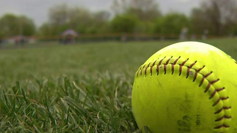 Clintondale Dragons breathing fire from mound in baseball, softball