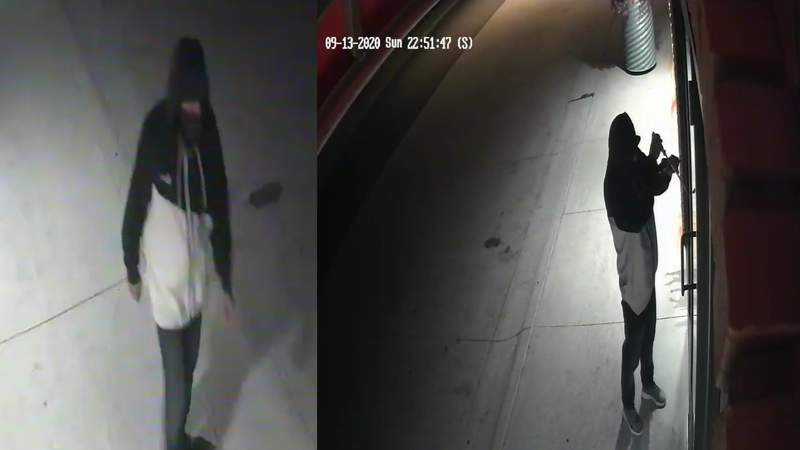 Police are asking for the public to help them identify and locate a suspect accused of breaking and entering a business on Detroit's east side.