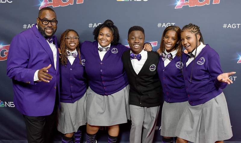 """Detroit Youth Choir arrives at """"America's Got Talent"""" Season 14 Live Show Red Carpet at Dolby Theatre on August 27, 2019 in Hollywood, California."""