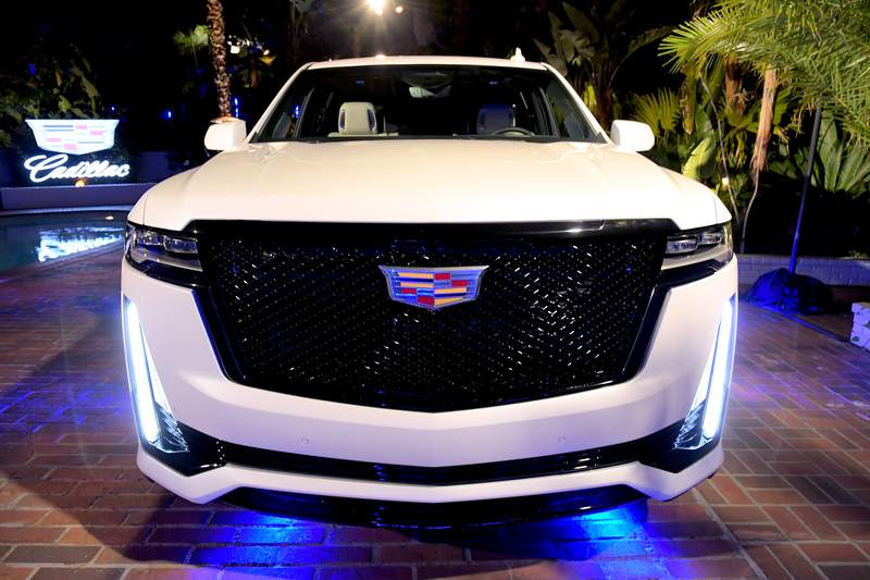 LOS ANGELES, CALIFORNIA - FEBRUARY 06: The all-new 2021 Cadillac Escalade is displayed during the Cadillac Oscar Week Celebration at Chateau Marmont on February 6, 2020 in Los Angeles, California. (Photo by Charley Gallay/Getty Images for Cadillac)