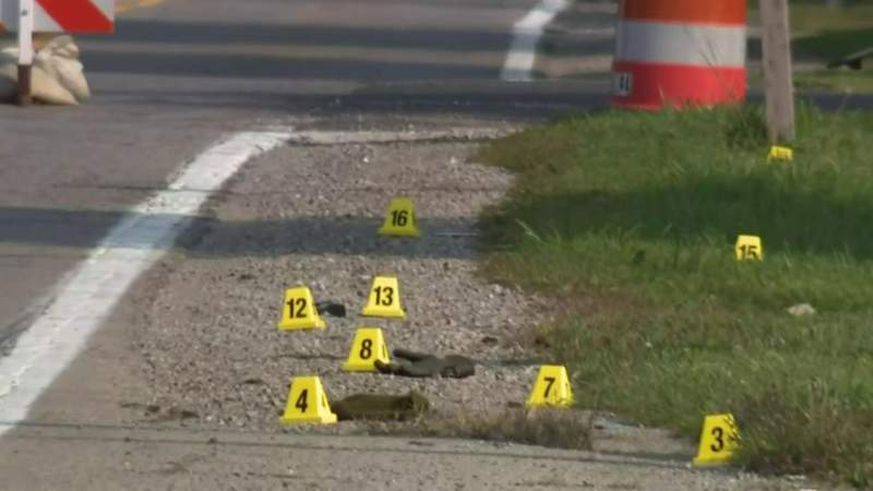 The scene of a Sept. 22, 2020, hit-and-run crash that killed a bicyclist in Ray Township.