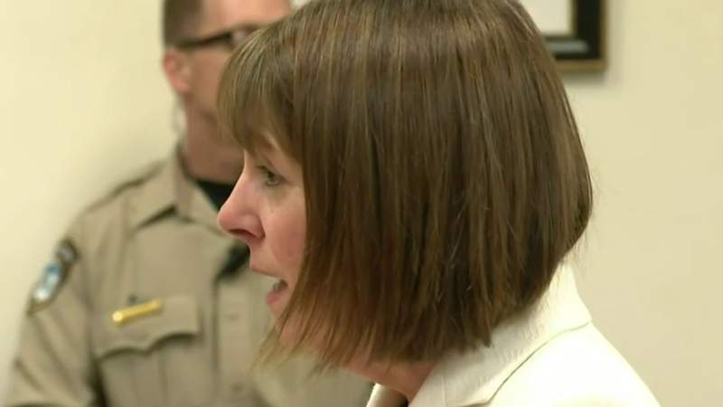 Former Livingston County Judge Theresa Brennan breaks down in court before being sentenced to jail