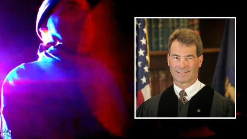 Body cam video shows Wayne County Judge David Parrott being arrested for drunken driving in 2018.