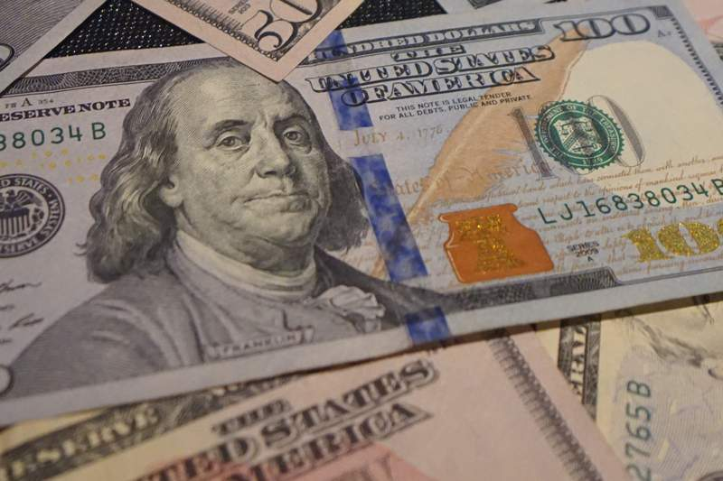 Benjamin Franklin on the $100 U.S. bill.