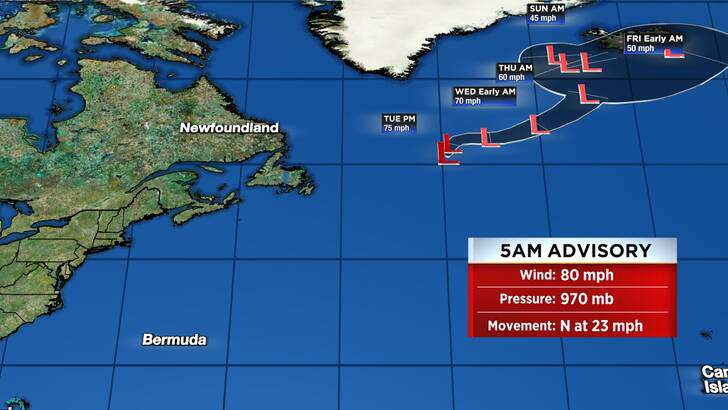 Tropics Forecast Cone at 1:05 Tuesday Afternoon, October 05th