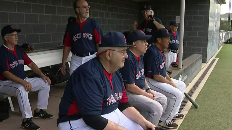 Baseball players 70 and older take the field in Troy