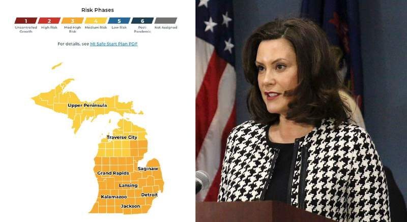 Michigan Gov. Gretchen Whitmer announced a new interactive dashboard tool on May 26, 2020.