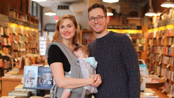 Owners Hilary and Michael Gustafson with daughter Greta (Credit: Literati Bookstore)