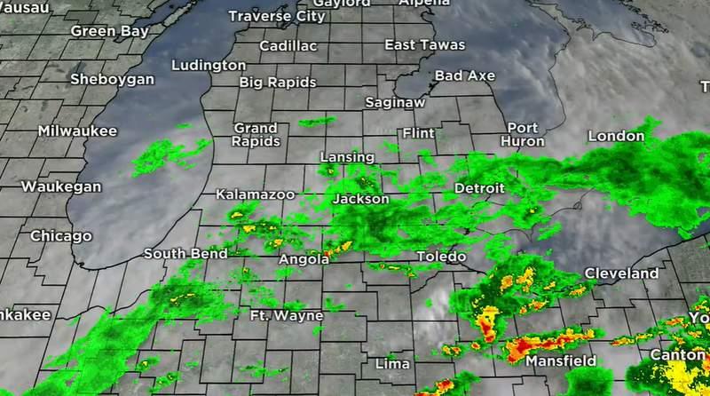 Weather radar July 16, 2021 at 6:38 p.m.
