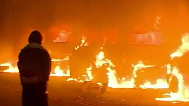 Protests in Grand Rapids become violent; fires, looting, heavy damage reported