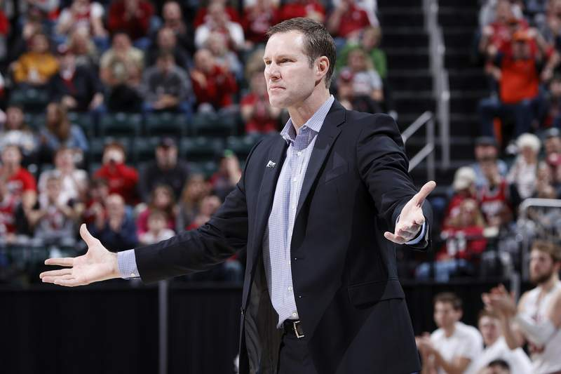Head coach Fred Hoiberg of the Nebraska Cornhuskers reacts against the Indiana Hoosiers in the second half during the first round of the Big Ten Men's Basketball Tournament at Bankers Life Fieldhouse on March 11, 2020 in Indianapolis, Indiana.
