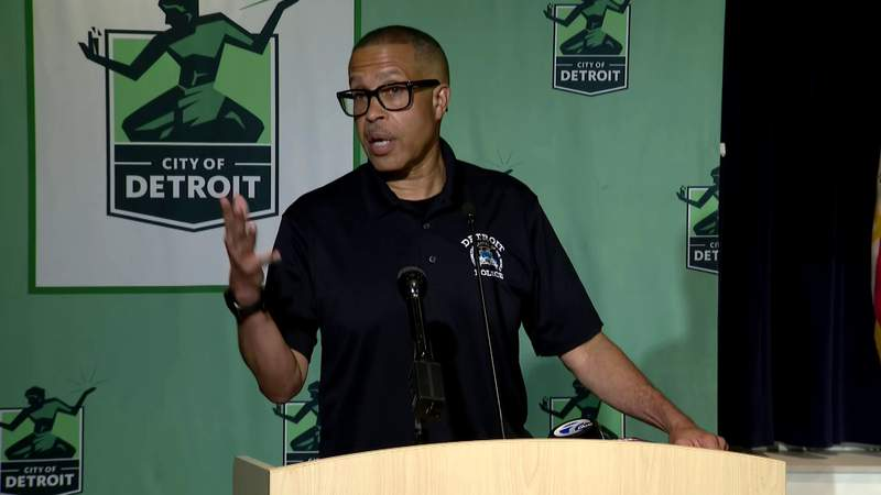 Detroit Police Chief James Craig speaks at a press conference in July 2020.