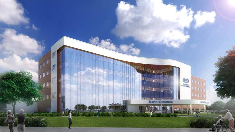 A rendering of Henry Ford Macomb Hospital's expansion that will feature 160 private patient rooms. Photo provided by Henry Ford Health System.