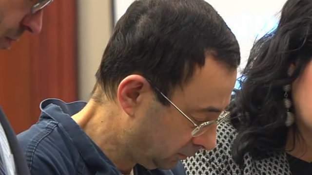 Larry Nassar at sentencing hearing on January 16, 2018.