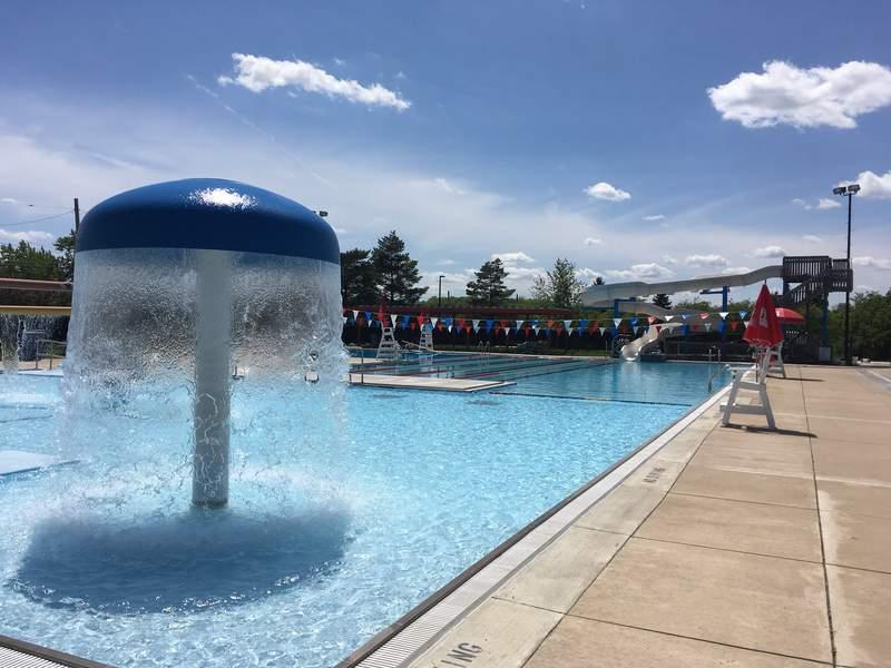Veterans Memorial Park pool.