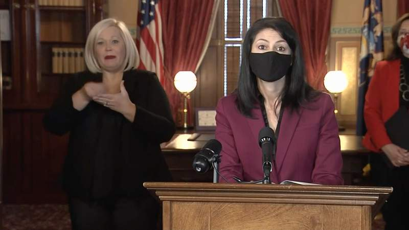 Michigan Attorney General Dana Nessel speaks at a news conference Dec. 15, 2020.