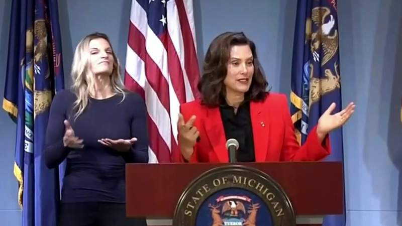 Michigan Gov. Whitmer reminds residents to wear masks in public to help stop spread of COVID-19