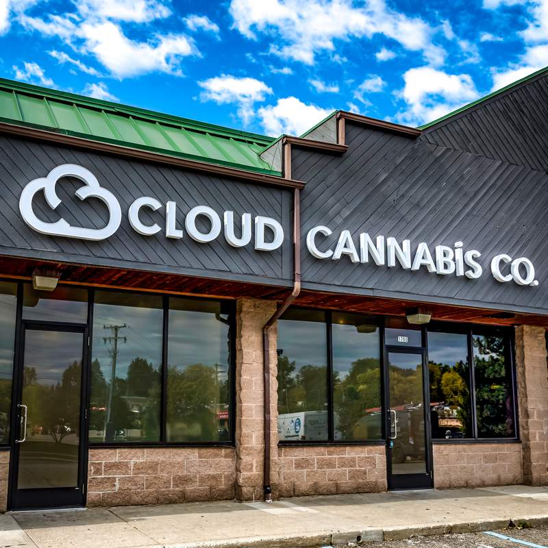 Cloud Cannabis is at 1760 Plymouth Rd. in Ann Arbor. Michigan.