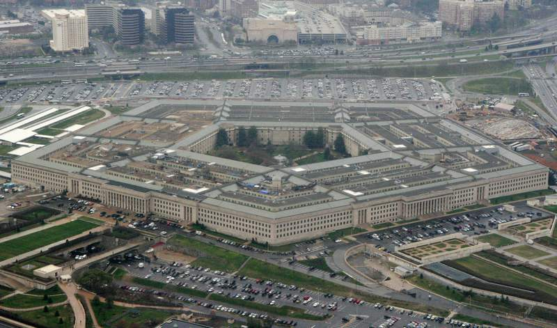FILE - This March 27, 2008, file photo, shows the Pentagon in Washington. The Associated Press has learned that leaders of the military services have expressed reservations to Defense Secretary Lloyd Austin about removing sexual assault cases from the chain of command.  (AP Photo/Charles Dharapak, File)