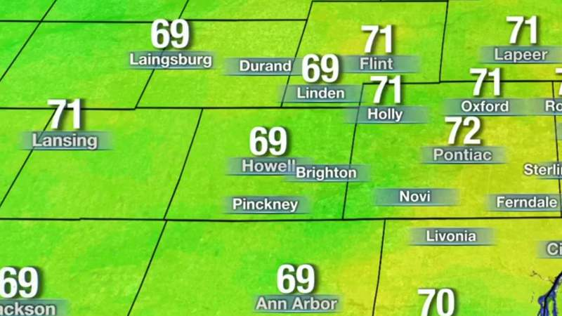 Metro Detroit weather: Warm with highs in the 70s