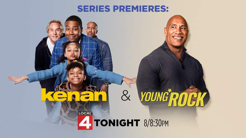Series premieres of Young Rock and Kenan tonight on Local 4