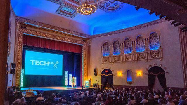 Tech Talk at the Michigan Theater. (Credit: Ann Arbor SPARK)