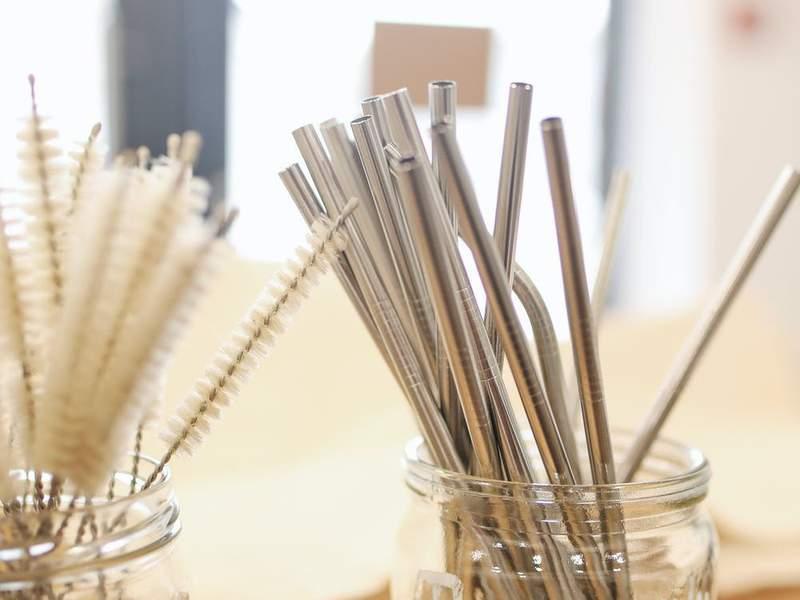 Reusable straws.