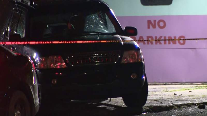 Police investigate a Sept. 5, 2021, shooting outside Northland Roller Rink on Detroit's west side.