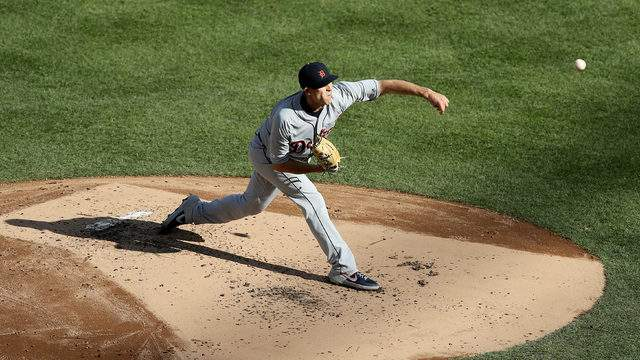 Matthew Boyd delivers a pitch against the New York Yankees at Yankee Stadium on April 3, 2019, in New York City. (Elsa/Getty Images)