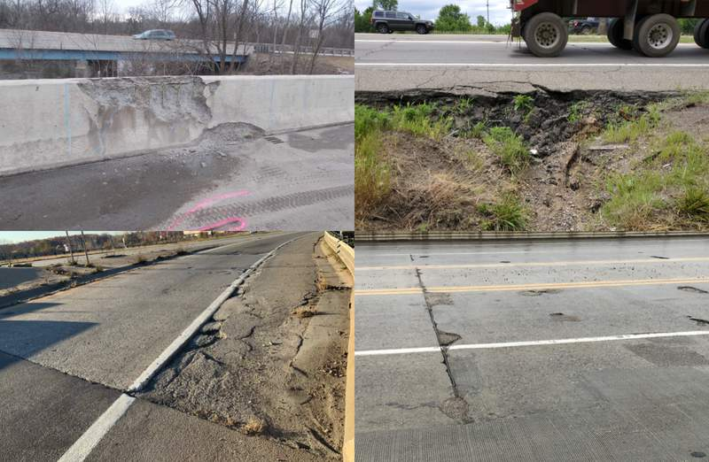 I-275 project repair zones.