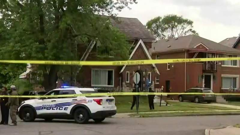 Police search for man after infant found alive at Detroit double homicide scene