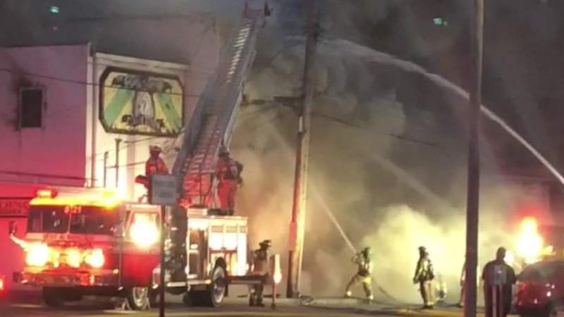 Video footage of Lapeer fire