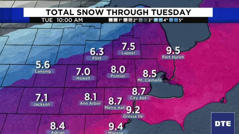 Metro Detroit weather forecast for Feb. 15, 2021 -- morning update