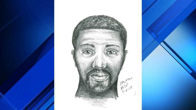 Officials release sketch of man accused of robbing two people in Grosse Pointe Woods on Aug. 25, 2019. (Grosse Pointe Woods Public Safety Department)