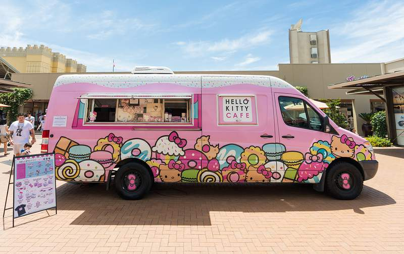 The Hello Kitty Cafe truck will make a stop at Twelve Oaks Mall in Novi on Saturday, Sept. 26, 2020. Courtesy of Hello Kitty Cafe Truck