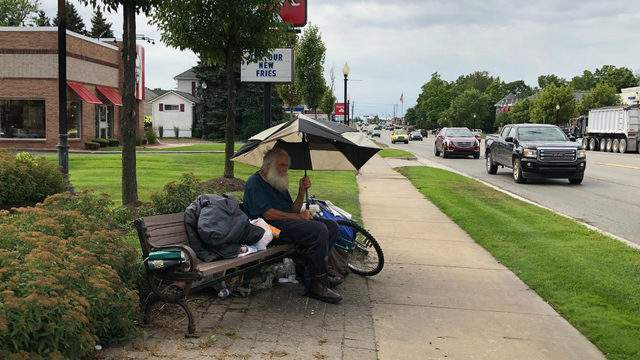 Bruce Gertz has been a homeless resident in Lake Orion for the past 19 years. Keith Dunlap/GMG