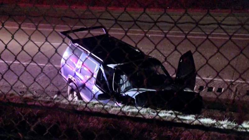 A man was killed March 18, 2020 when his Chevrolet Tahoe crashed along eastbound I-96 in Detroit.