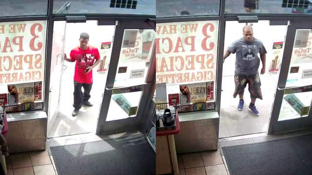 Detroit police believe these men stole more than 600 gallons worth of gas. (WDIV)