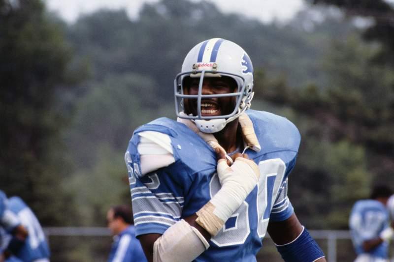 """Portrait of Al """"Bubba"""" Baker, defensive lineman for the Detroit Lions."""