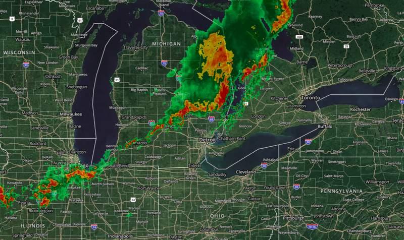 Michigan Weather Radar -- July 19, 2020