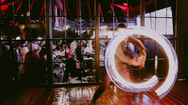 A performer at the Circ Bar Halloween party.     Photo credit | The Circ Bar