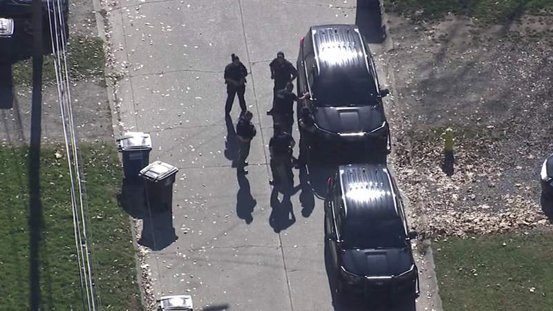 Aerial video shows police scene in Westland connected to fatal Detroit shooting