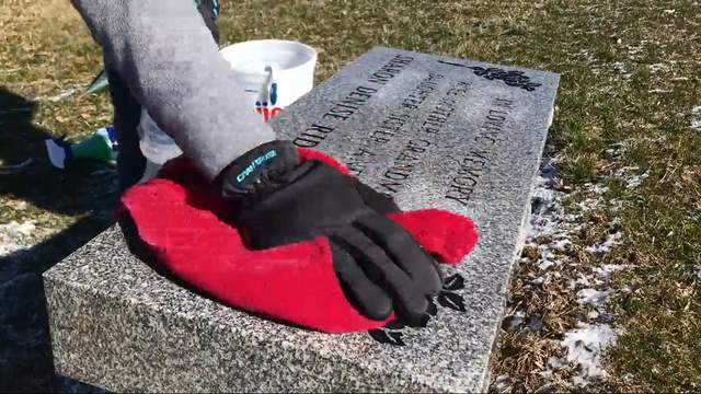 Heaven's Maid cleans and maintains gravesites for families who cannot make it to the cemetery. (WDIV)