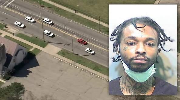 Detroit police say Brandon Walker led officers on a chase on April 6, 2020.