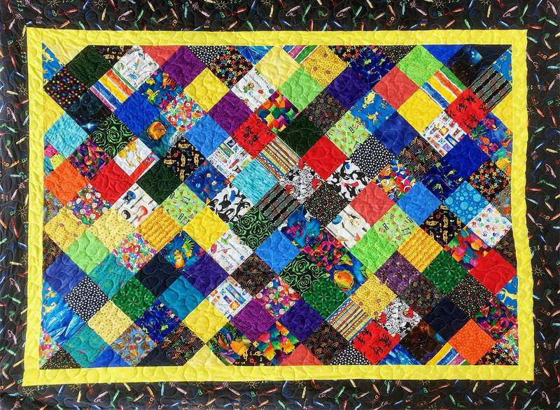 A quilt created by member Greater Ann Arbor Quilt Guild, Nancy Finlayson.